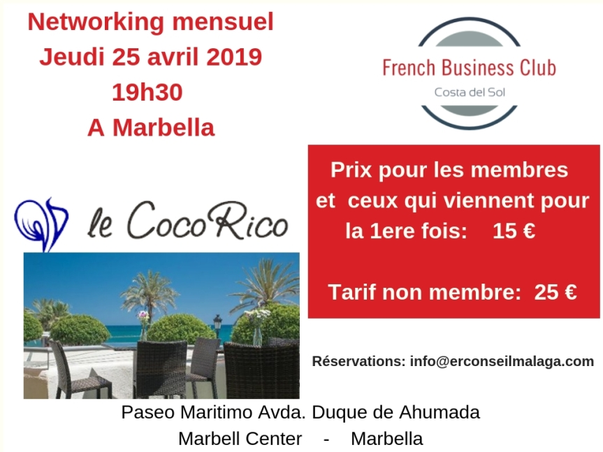 Networking d'avril 2019